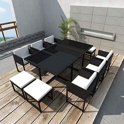 Tidyard Conjunto Mesa 6 sillas 4 taburetes Jardín,Conjunto
