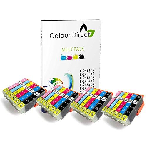 Preisvergleich Produktbild 24 (4 Satzs) Colour Direct Kompatible Tintenpatronen Ersatz für Epson Expression Foto XP-55 XP-750 XP-760 XP-850 XP-860 XP-950 XP-960 4 Satzs 24XL