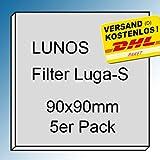5x Original - Filter - Filtereinsatz für LUNOS LUGA-S und 2/GBF, 2/GVF, 2/ZSKA, ALD-R - Maße: 90x90mm - Ersatzfilter - Art.-Nr.: 033 286