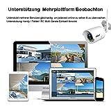 ieGeek Außen Wasserdicht HD 1280x720P Wlan IP Überwachungskamera, Email,die mobile Benachrichtigung, Remote-Wiedergabe, IR Nachtsicht, Bis zu 128GB - 6