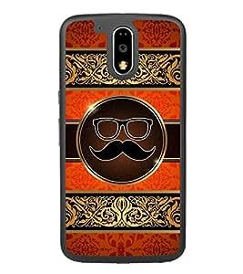 Moustache Uncle 2D Hard Polycarbonate Designer Back Case Cover for Motorola Moto G4