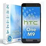 EAZY CASE 3X Bildschirmschutzfolie für HTC One (M9), nur 0,05 mm dick I Bildschirmschutz, Schutzfolie, Bildschirmfolie, Transparent/Kristallklar