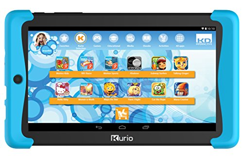 Kurio Tab2 motion 17.78 cm (7 Zoll) Tablet-PC(MTK  Mediatek Quadcore MTK8127, 1GB RAM, 8GB HDD, Android) blau/schwarz