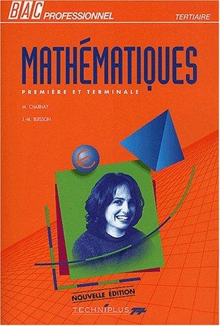 Mathématiques Première et Terminale Bac professionnel