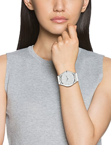 Swatch Damen-Armbanduhr XS White Classiness Analog Quarz Kautschuk SFK360 - 2
