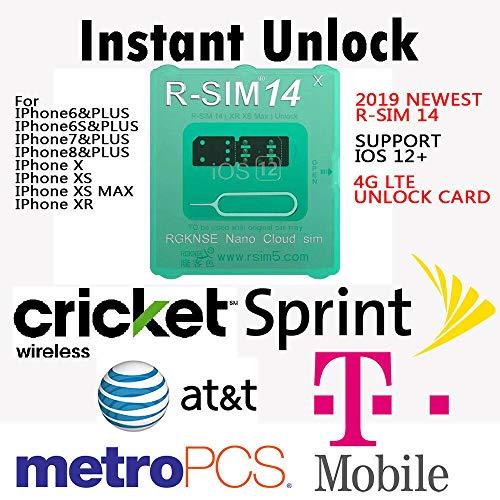 EDTara Tarjeta de Desbloqueo R-SIM 14 RSIM Nano para iPhone XS MAX/XR/XS /  8/7/6 4G iOS 12