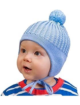 Tutu by Galeja Säuglingsmütze 100% Merino Wolle Bindemütze 4 Farben Größe 38-42, 42-46 und 46-50 Kindermütze