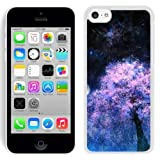 Fashionable Designed Cover Case For iPhone 5C With Purple Tree Under The Night Sky Fantasy Mobile Wallpaper (2) Phone Case