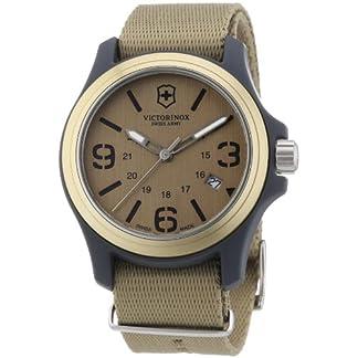 Victorinox Swiss Army – Reloj analógico de Cuarzo para Hombre con Correa de Tela, Color Beige