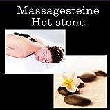 2 x Hot Stone Massage Basalt-Steine im Schmuckkarton (2 x 9 Steine)