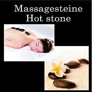 2 X Hot Stone Massage Basalt Steine Im Schmuckkarton 2 X 9 Steine