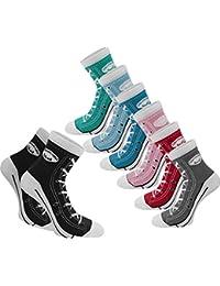 4 Paar Socken im Schuh-Design mit vielen originalgetreuen Details