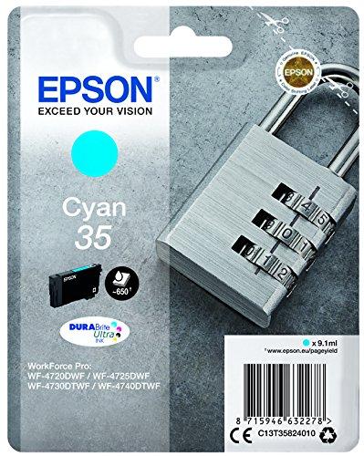 Preisvergleich Produktbild Epson Original Tintenpatrone T35 Schloss  Cyan