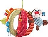 HABA 302998 - Stoffball Affe Lino |Spielball aus Stoff mit Kuscheltier, Glöckchen, Quietsche und Knisterfolie | Baby-Spielzeug ab 6 Monaten | Waschbar bei 30°