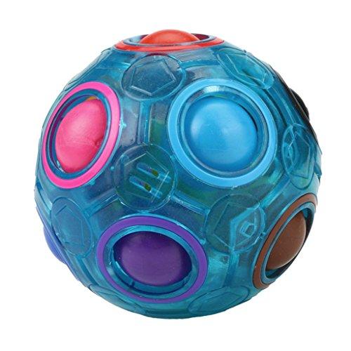 feiXIANG Juguetes, Luminoso bola del arco iris mágico de la relevación de la tensiónDiversión Cubo Fidget Puzzle Educación Juguete Juguete Educativo Juguete Bebé