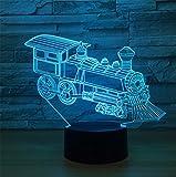 Kinder Benutzen 3D Nachtlichter Stereo mit 5 Farbverlauf Beleuchtung USB Aufladen Tischlampe Schlafzimmer Dekoration Kreativ Urlaub Geschenke