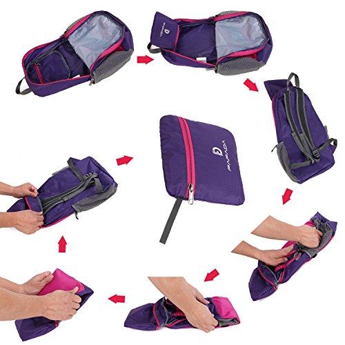 Rucksack Jungen Fafada Faltbar Schulrucksack 30L Wasserabweisend 14 Zoll Laptoprucksack Urtal Leicht Kinderrucksack Lässiger Daypack Blau Rosa