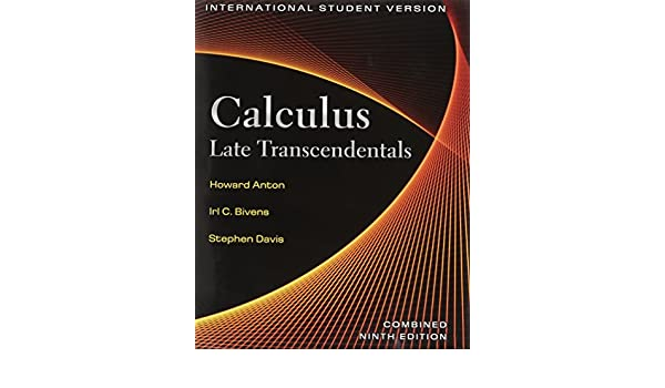 calculus late transcendentals international student version combined 9th edition pdf