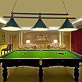 CLLCR Billardraumleuchter, Billardtischleuchter, Schattenlose Lampe, Billardleuchter, Restaurant, Retro-Leuchter des Cafés,Grün,3 Kopf