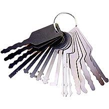 Juego de 16 piezas de llave maestra para coche de TMP, juego de ganzúas y