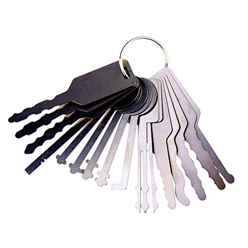 TMP 16Stück Full Master Schlüssel für Kfz, Auto Passpartoutschlüssel Lock Pick Set und Repair Tools (Lock Set-taste Pick)