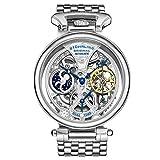 Stührling Original 797.01 - Reloj analógico para Hombre, Correa de Acero Inoxidable, Color Plateado