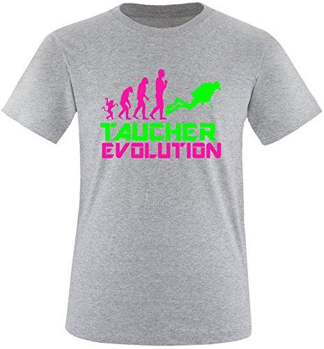 EZYshirt® Taucher Evolution Herren Rundhals T-Shirt Grau/Pink/Neongr