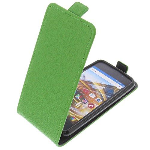 foto-kontor Tasche für Archos 40 Neon Smartphone Flipstyle Schutz Hülle grün