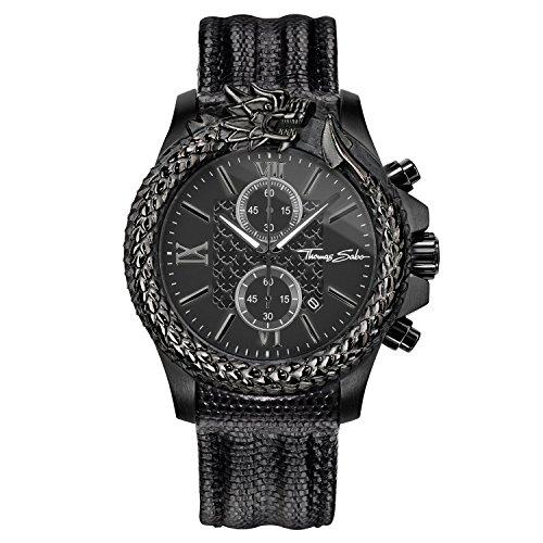 Thomas Sabo Reloj Analógico para Hombre de Cuarzo con Correa en Cuero WA0266-213-203-44