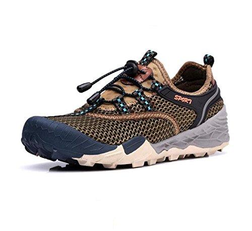 Z&HX sportsChaussures d'alpinisme en plein air hommes grands yards chaussures nettes de loisirs Khaki