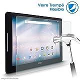 KARYLAX Protection d'écran Film en Verre Nano Flexible Dureté 9H, Ultra Fin 0,2mm et 100% Transparent pour Tablette Acer Iconia One 10 B3-A30 10 Pouces