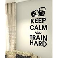 Keep Calm e treno rigida–Kettlebell Esercizio Danza Salute allenamento motivazione Palestra Fitness Cuore vita famiglia (Treno Decorazione Della Parete Di)