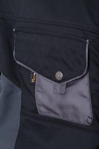 "J&N - hochwertige Herrenjacke ""Workwear"" (JN821) Weiß/Karbon"