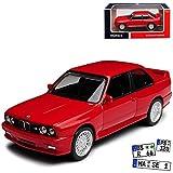 Norev BMW 3er E30 M3 Coupe Sport Evolution Rot 1982-1994 1/43 Modell Auto mit individiuellem Wunschkennzeichen