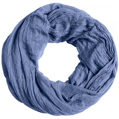 CASPAR SC432 Damen Vintage Loop, Farbe:jeans blau;Größe:One Size - Denim Schal