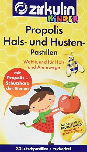Zirkulin Naturheilmittel Propolis Hals und Hustenpastillen für Kinder, 2er Pack (2 x 45 g)