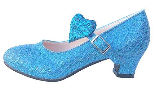 e Flamenco ELSA Frozen Schuhe - Blau Glamour - Größe 27 ()