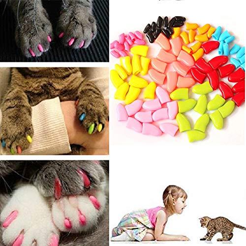 Peng sounded Copertura Unghie per Animali Copertura Unghie per Cani Copertura Unghie per Gatti Confezione da Tre Pezzi 60 Pezzi Fornire Colla Accessori per Cani. (Dimensione : XS)