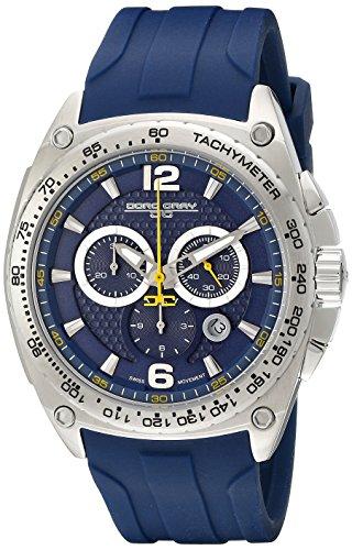 Jorg Gray - Orologio da polso, cronografo al quarzo, silicone, Uomo