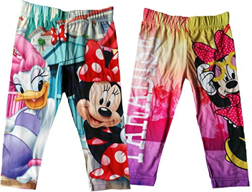 Disney Minnie Maus Leggings mit Motiv - 2er Pack - Mit Minnie in Paradise - Mehrfarbig - Bundle von MLS Kids