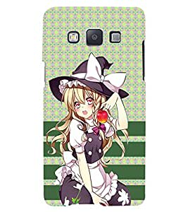 Fuson 3D Printed Girly Designer back case cover for Samsung Galaxy A3 - D4376