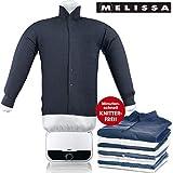 MELISSA 16390055 Bügelpuppe, Blusentrockner,Bügelsystem,Hemd und Blusen Bügler,weiß, 1200 Watt...
