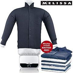 MELISSA 16390055 Bügelpuppe, Blusentrockner,Bügelsystem,Hemd und