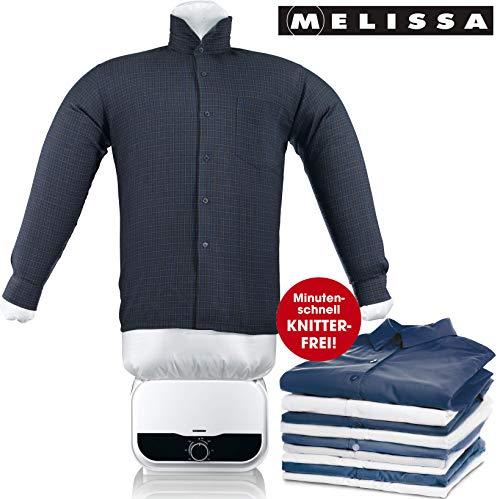 MELISSA 16390055 Bügelpuppe, Blusentrockner,Bügelsystem,Hemd und Blusen Bügler,weiß, 1200 Watt Power,Easy Bedienung, Kunststoff - Detail Bluse