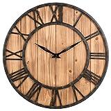 Wanduhr Vintage, Likeluk 15 Zoll (40cm) Lautlos Vintage Wanduhr Holz Uhr Uhren Wall Clock ohne Tickgeräusche
