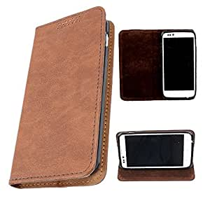 DooDa PU Leather Flip Case Cover For HTC Desire 310 (Brown)