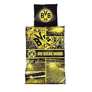 Borussia Dortmund BVB Bettwäsche/Biber - Bettwäsche ** Gelbe Wand **