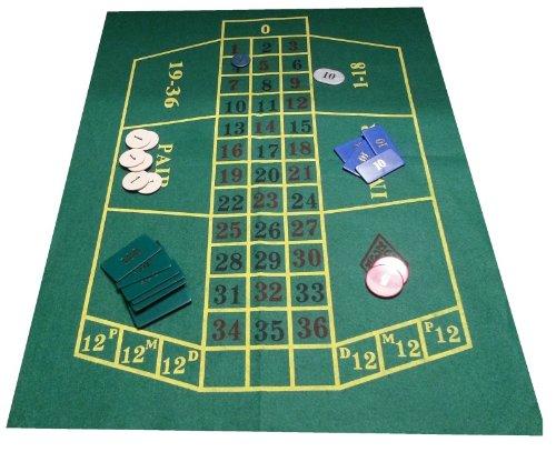 Grün Filz Layout für Roulette, Blackjack Layout auf der Rückseite