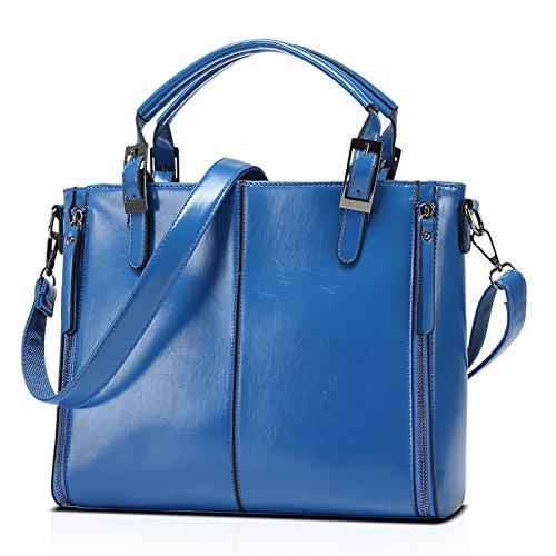 Mefly Nuovo Portatile Borsetta Tracolla Messenger Bag Moda Donna Claret blue