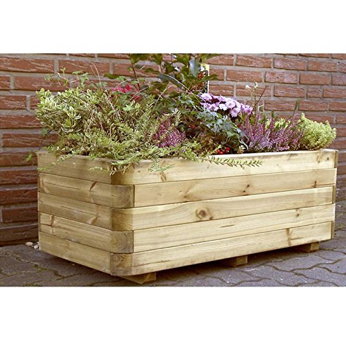 Pflanzkasten Pflanzkübel Holz 120 x 60 x 40 cm von Gartenpirat®